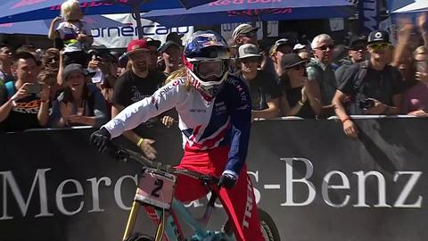Finish to women s downhill MTB championship e1798af6a