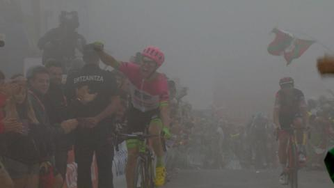 Finish to Stage 17 of 2018 Vuelta a Espana 2dfe85ad6