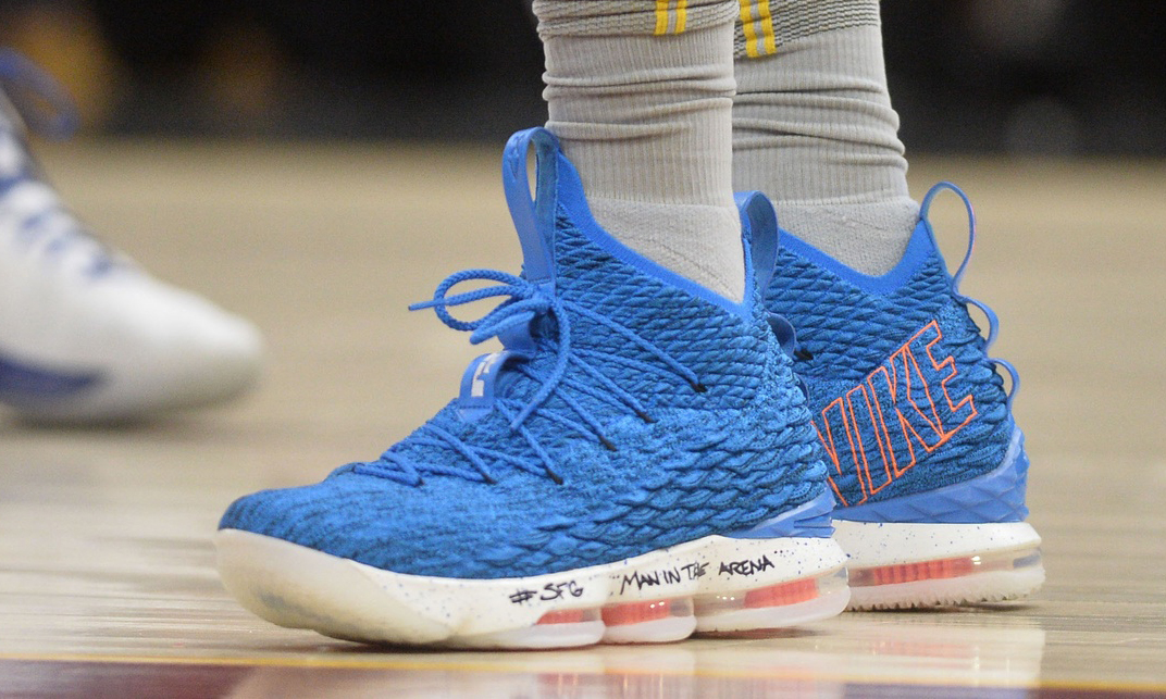 LeBron James' choice of shoes causes an
