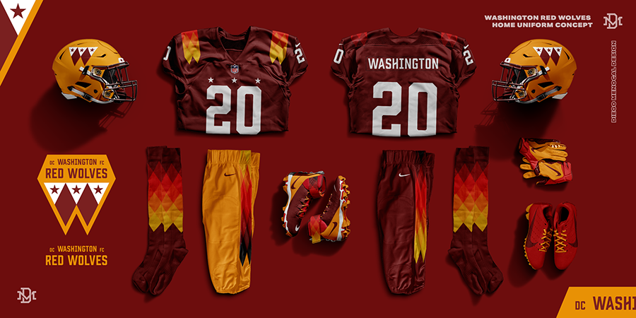 Fans Vote On Best Logo Uniform Designs For Top Washington Football Team Name Options Rsn