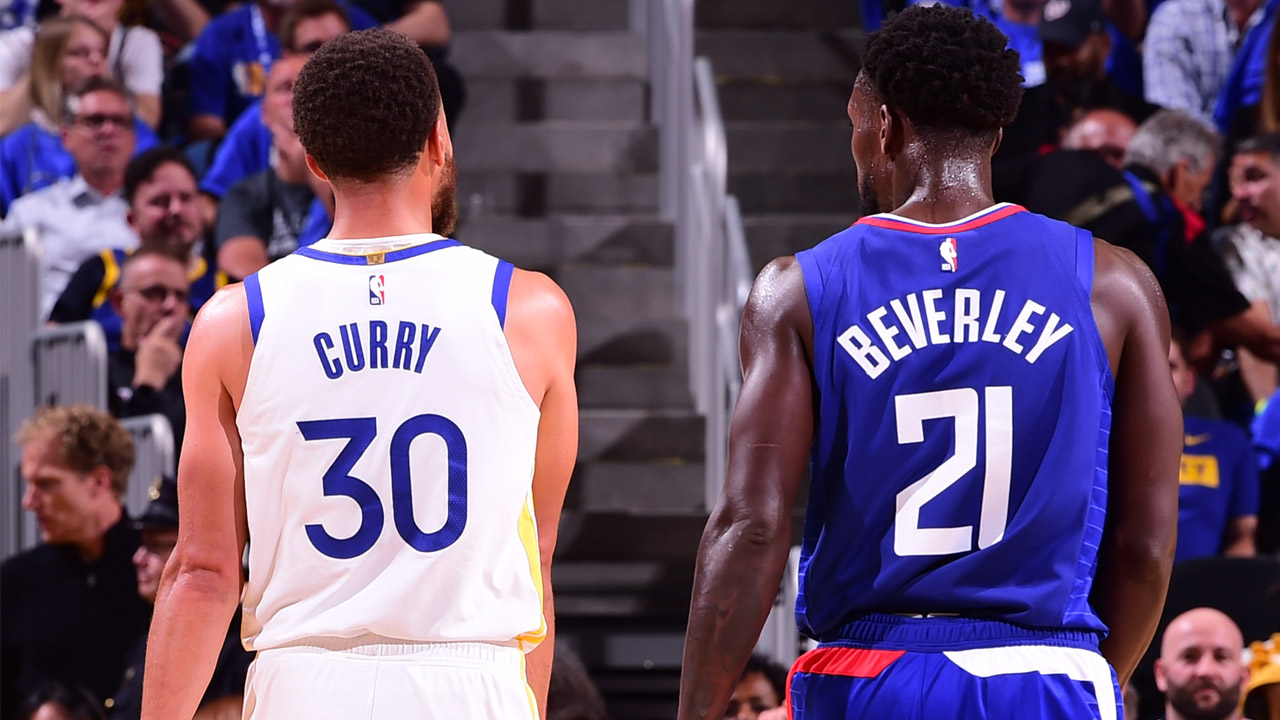 Patrick Beverley's trash talk to Warriors' Steph Curry off to bad start