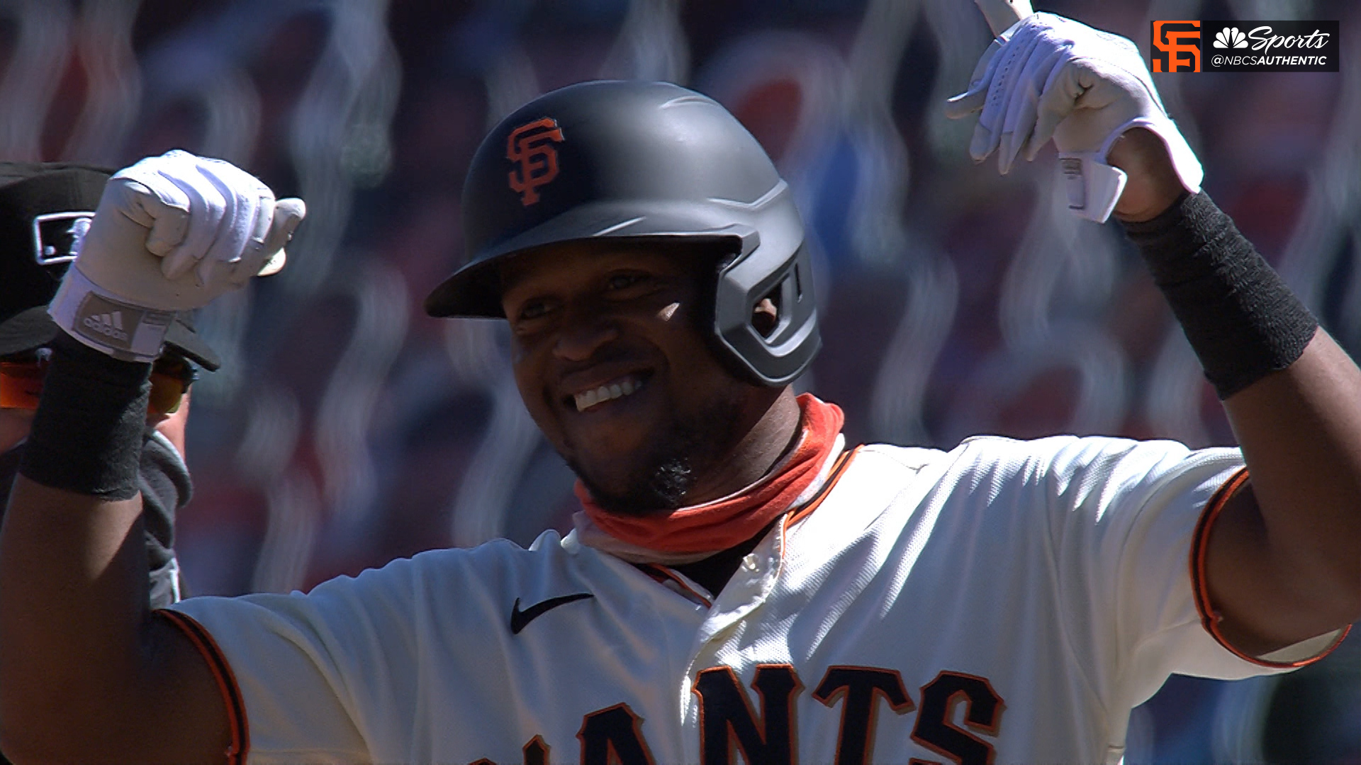 Giants' Basabe will give ball from first hit to his mother