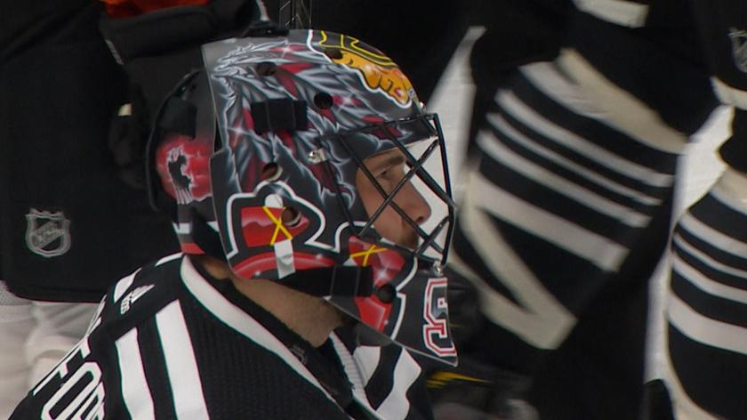 Why Corey Crawford Was Briefly Removed From Game By Nhl Concussion Spotters Rsn
