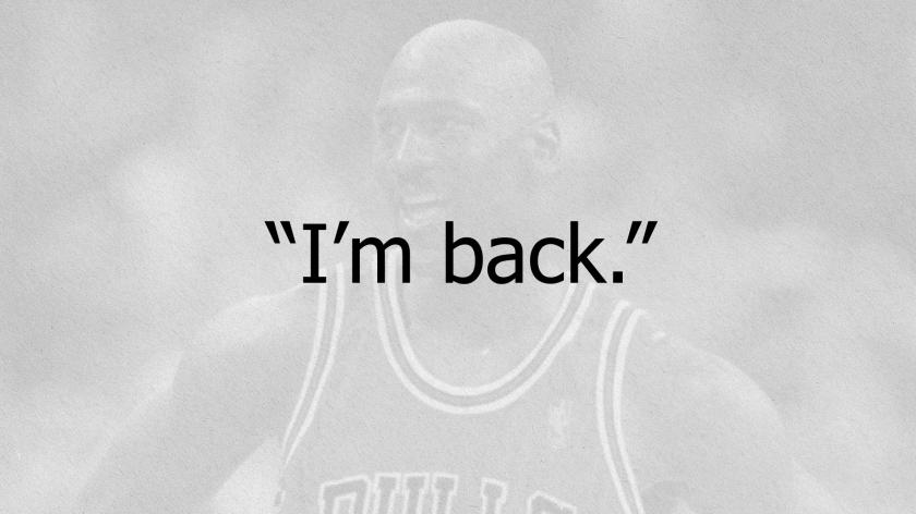 Inapropiado Regreso Iluminar  NBC Sports Chicago airing 'I'm Back' documentary about Michael Jordan's  return to the NBA | RSN