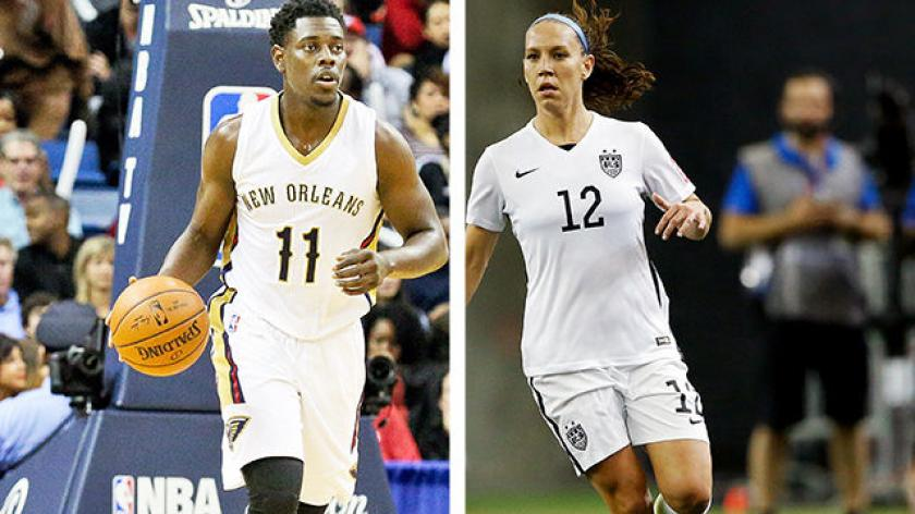 Jrue Holiday taking leave for 2-time Olympian wife Lauren ...