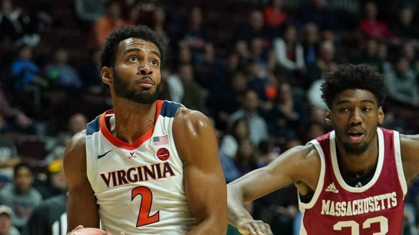 Virginia guard Braxton Key rips jersey in frustration against Florida ...