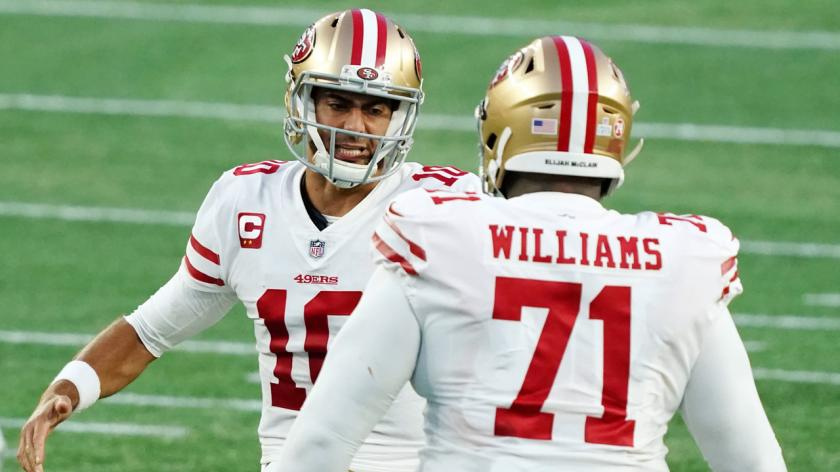 Jimmy Garoppolo Trent Williams