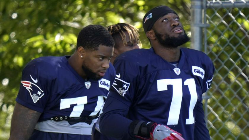 Patriots rookie linebackers Anfernee Jennings and Josh Uche
