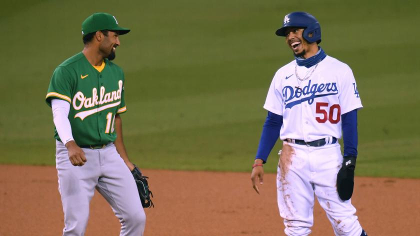 Marcus Semien, Oakland A's and Mookie Betts, Los Angeles Dodgers