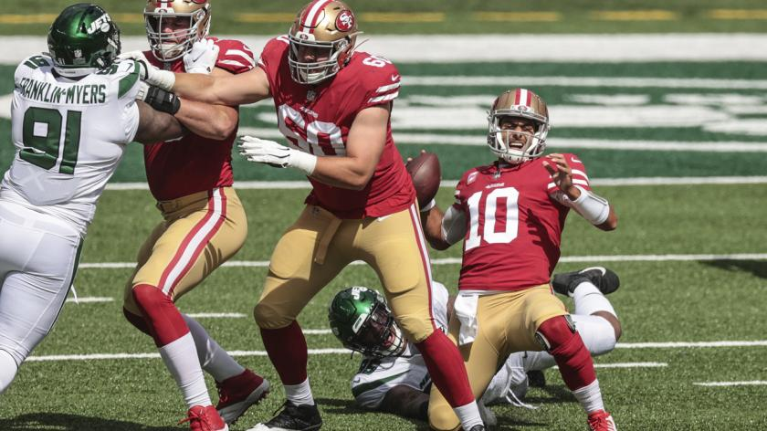 Jimmy Garoppolo sacked
