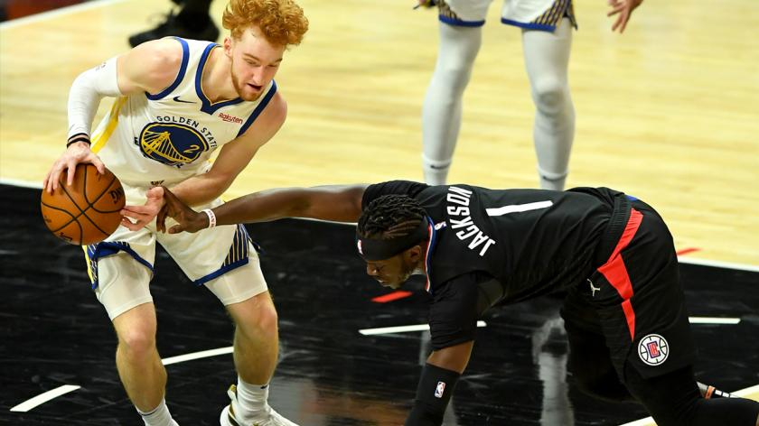 Warriors' Nico Mannion vs. Clippers