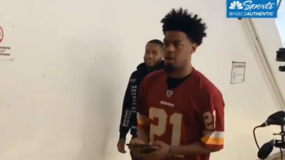 Quinn Cook rocks Sean Taylor jersey to Warriors-Clippers Game 5 | RSN