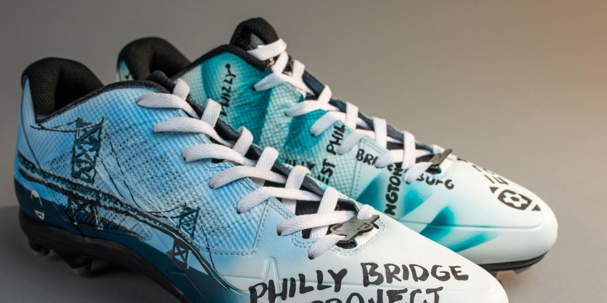 Eagles to support their favorite charities with creative cleats Sunday