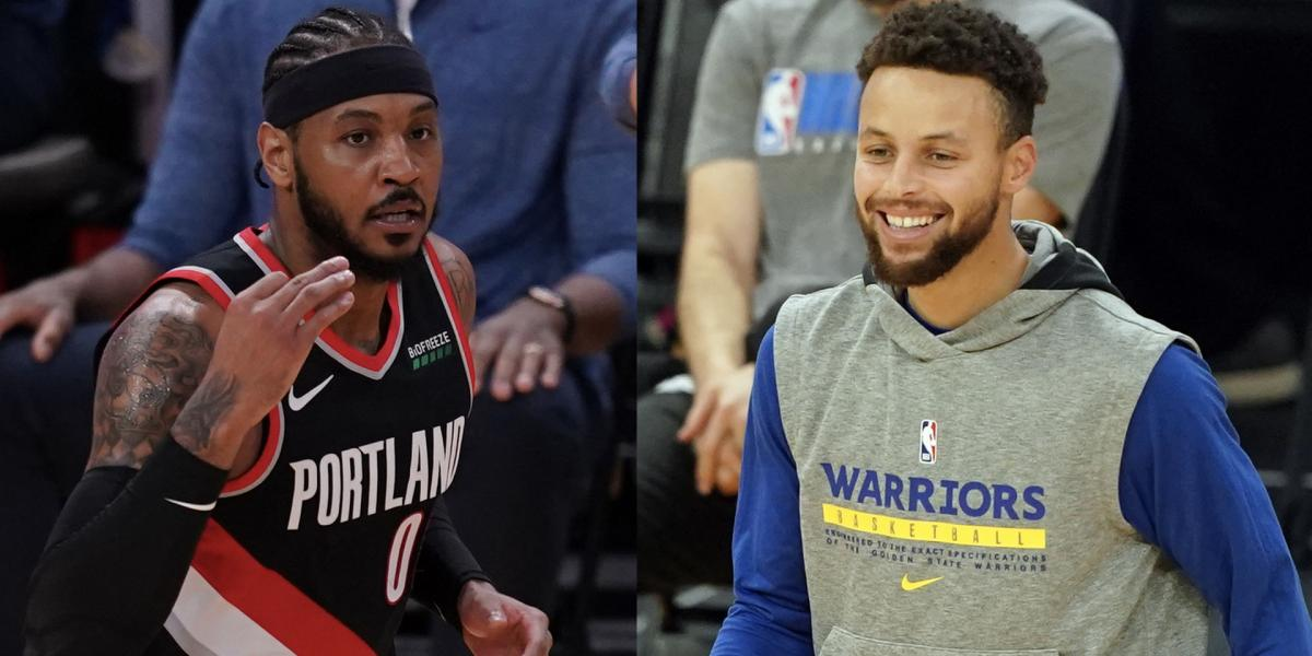 Carmelo Anthony's superb footwork mightily impressed Stephen Curry