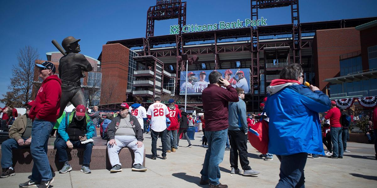 Phillies can have some fans in the stands, per city's new COVID restriction limits - NBC Sports