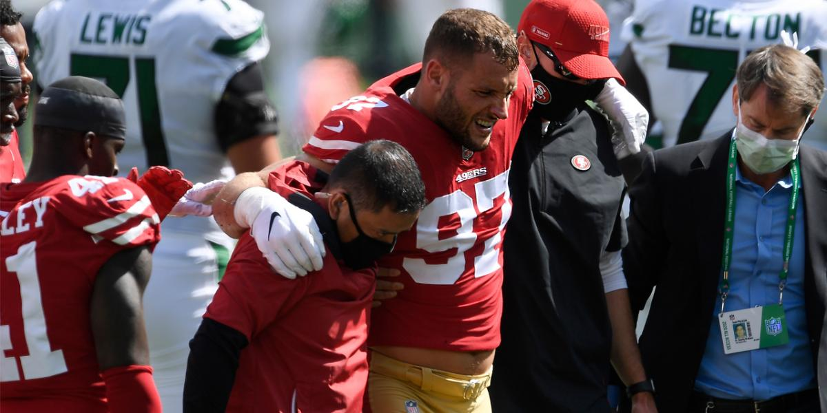 49ers' quantity, quality of injured players in 2020 peerless in NFL