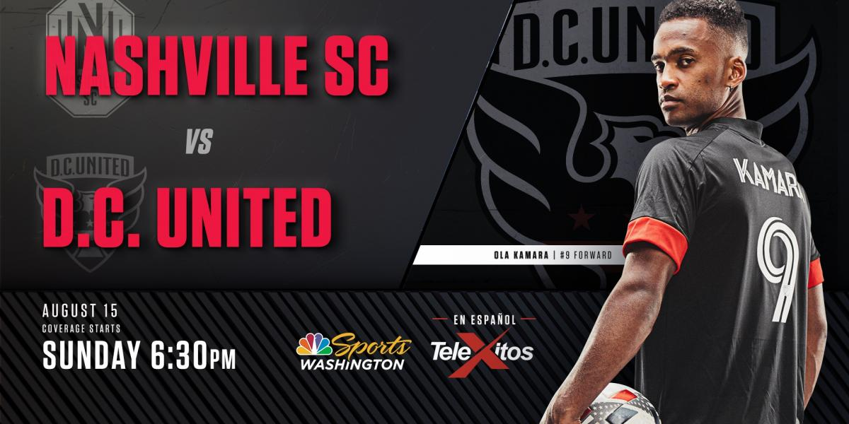 How to watch D.C. United vs. Nashville SC