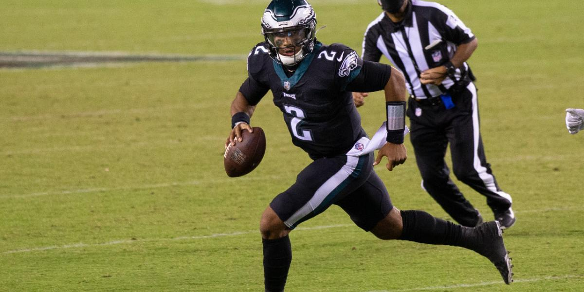 The Eagles will wear all-black uniforms in Jalen Hurts' first ...