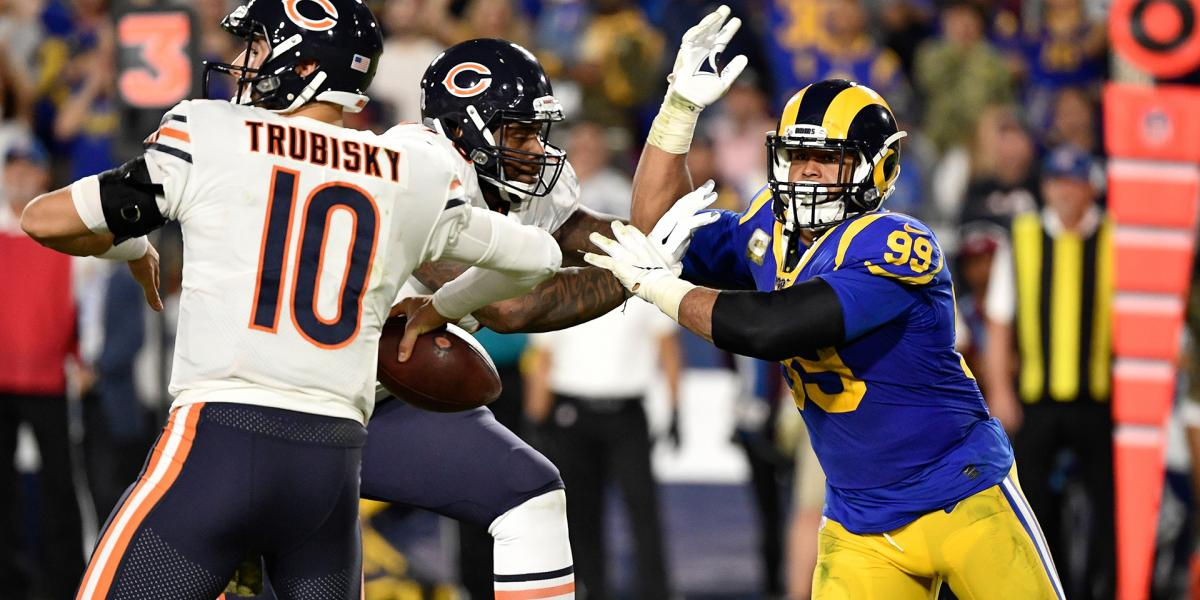 How Bears Success Failure Against Aaron Donald Will Shape Monday S Game Plan Rsn