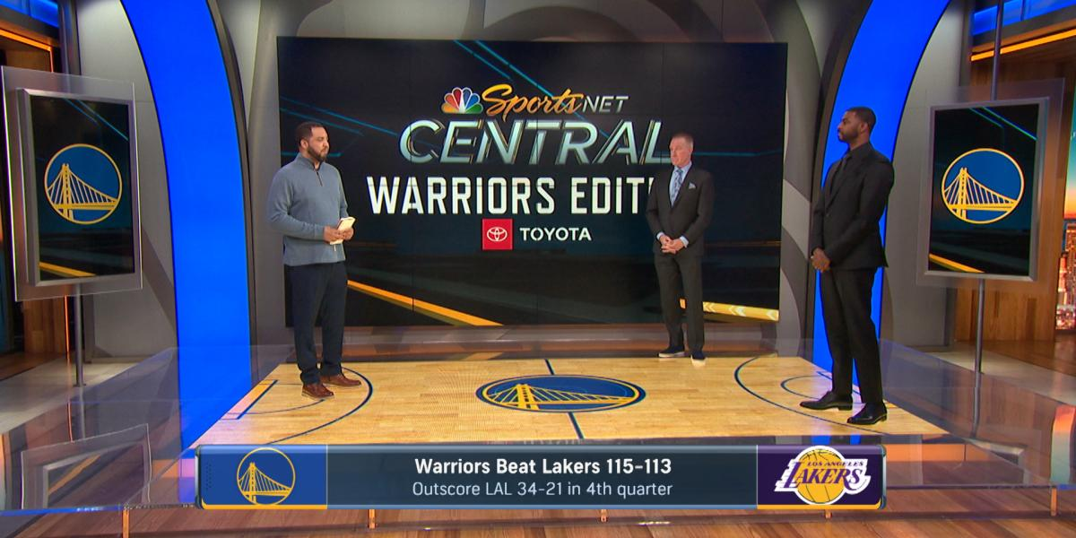 Warriors' fourth-quarter run carries them over Lakers for 115-113 win
