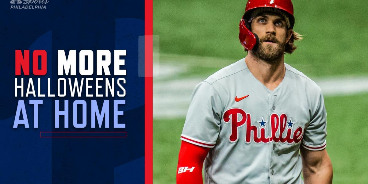 Bryce Harper doesn't want to be home for Halloween this year