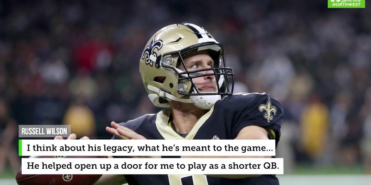 Russell Wilson says Drew Brees paved the way for short QBs