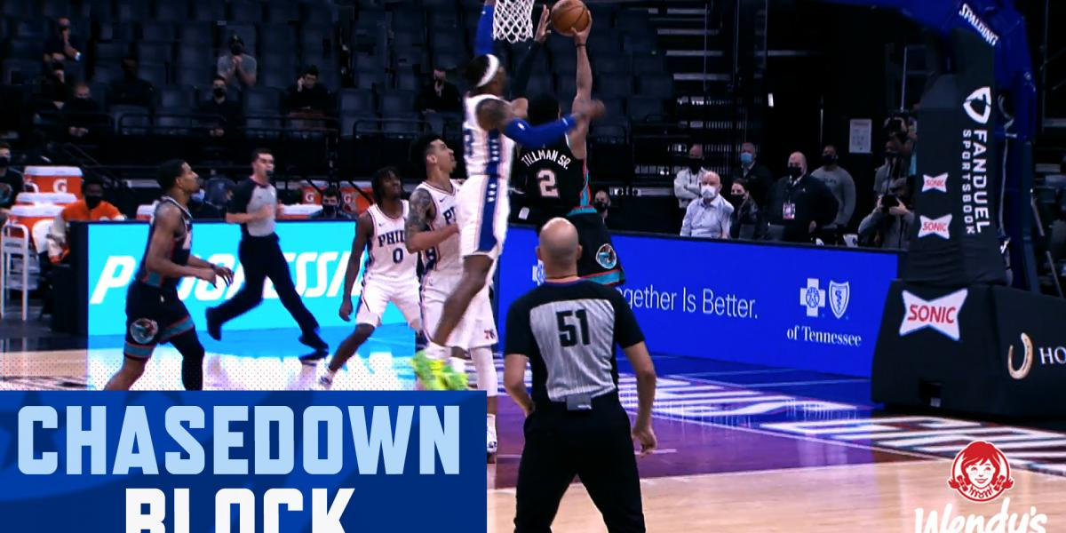 Highlights: Dwight Howard's chasedown swat leads to the Tobias Harris slam