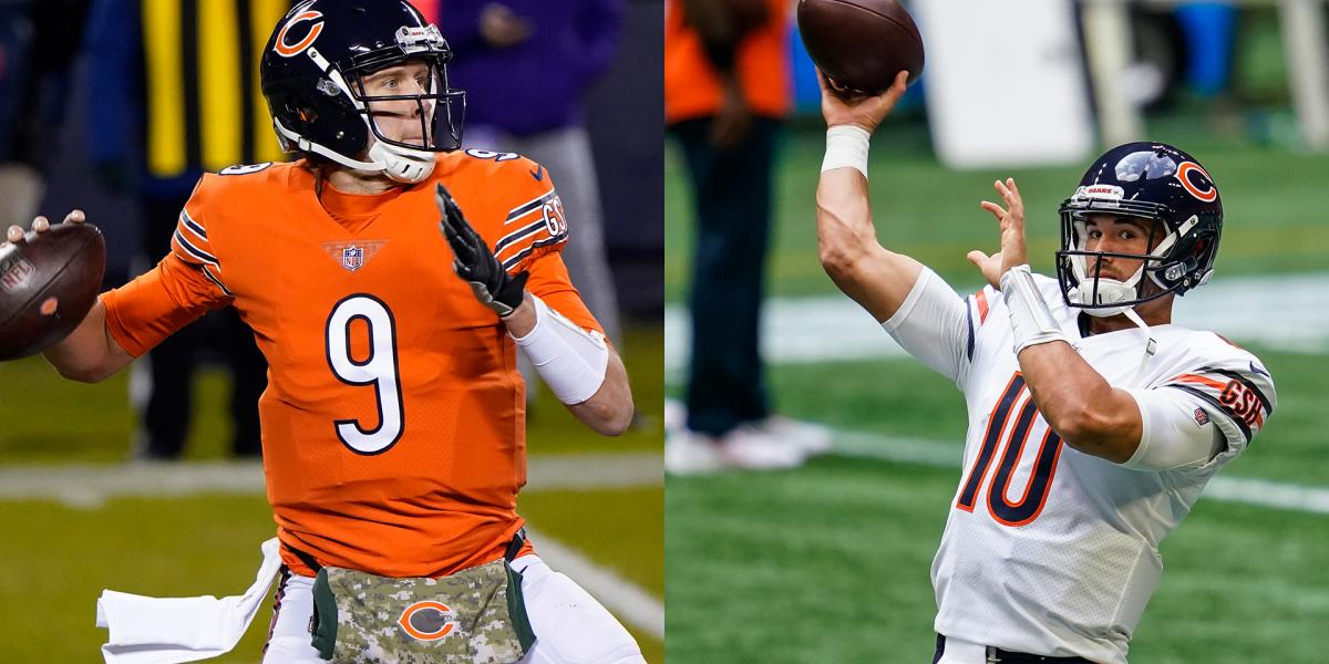 Nick Foles day to day, Mitch Trubisky 'did a good job' in practice