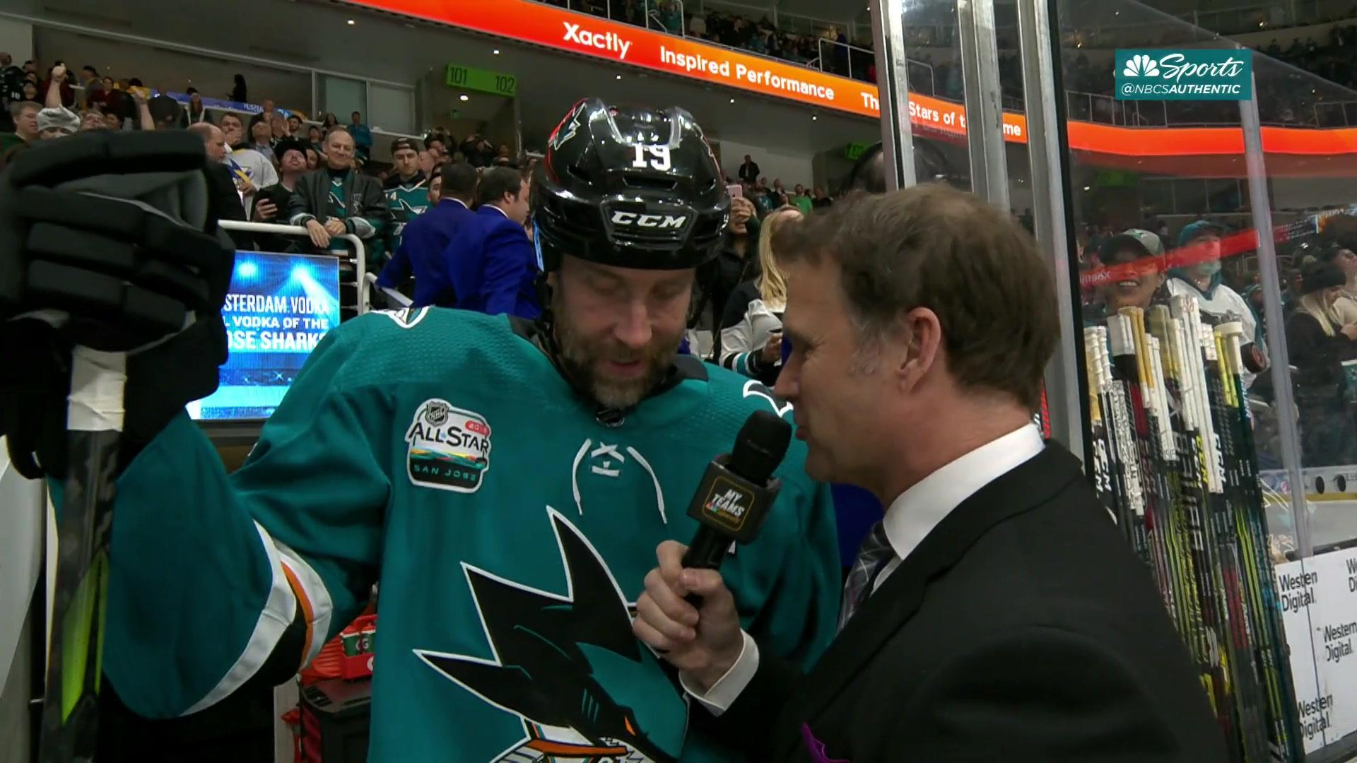 Joe Thornton says he had to score No. 400 for Sharks fans at SAP Center