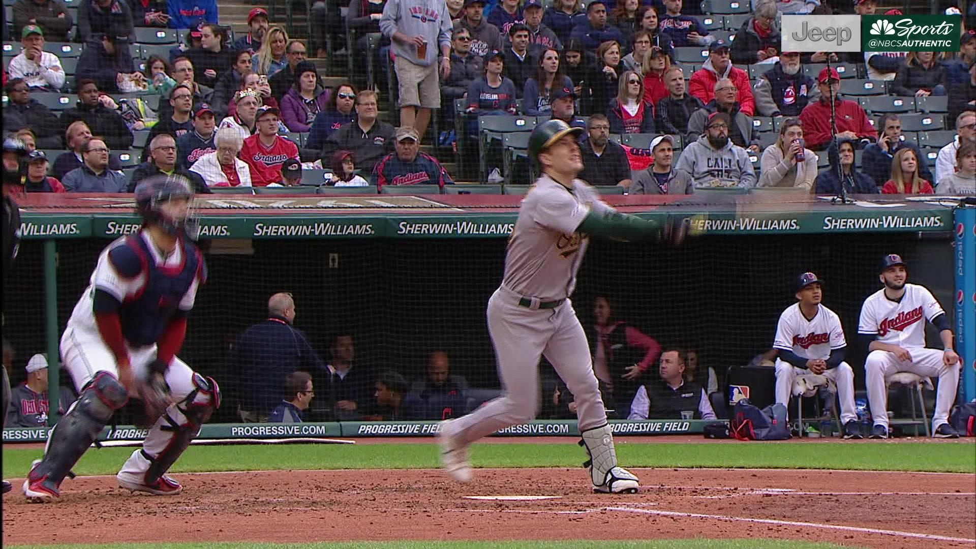 Drive of the Game: Mark Canha clubs pinch-hit two-run blast