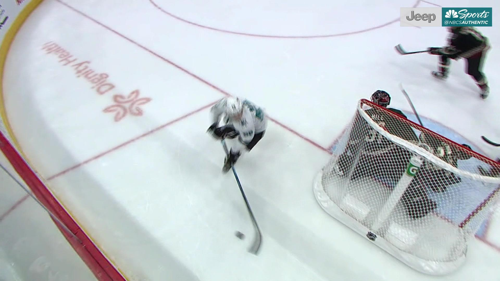 Shot of the Game: Lukas Radil gives Sharks late lead with first NHL goal