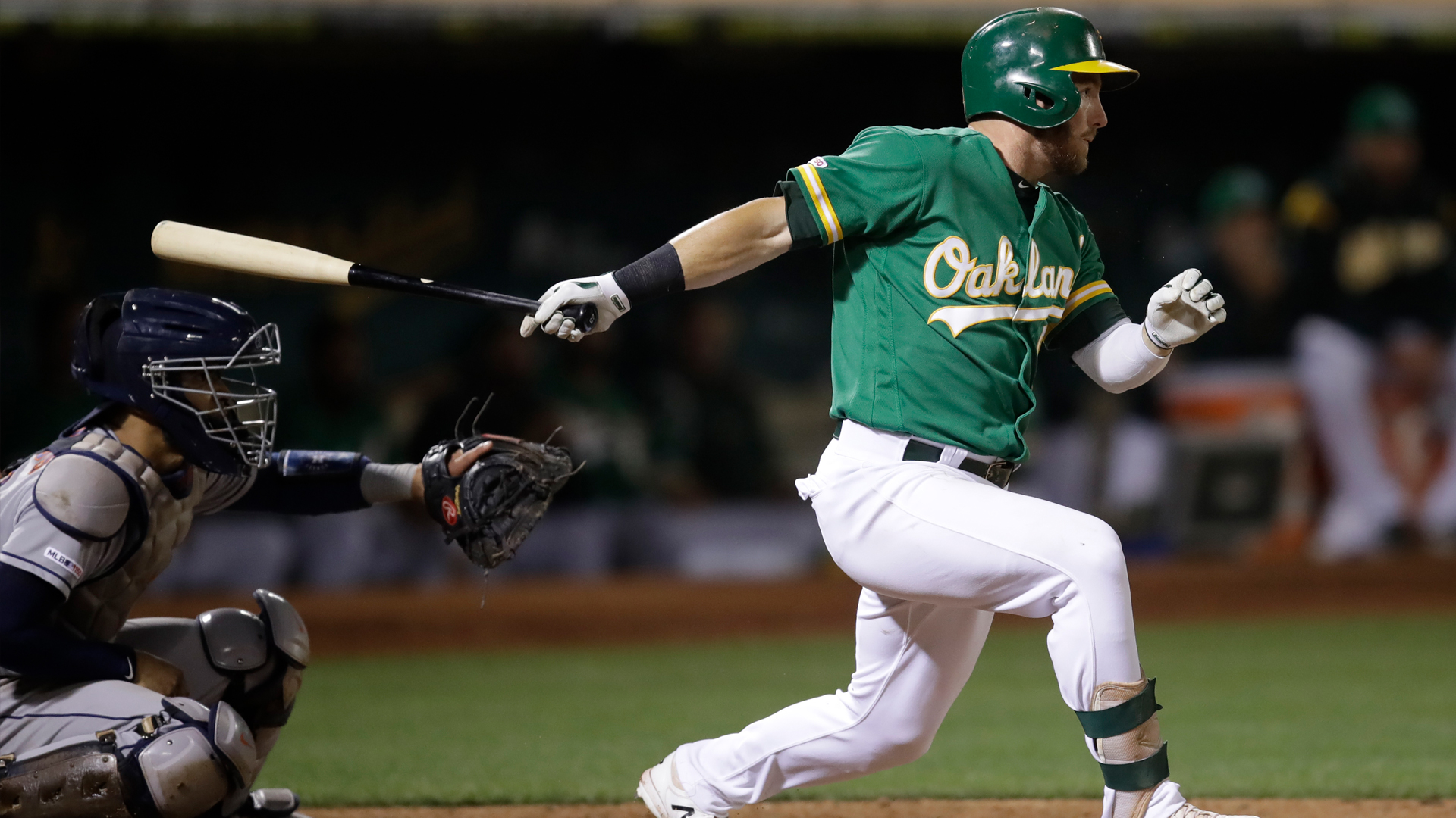 Drive of the Game: Robbie Grossman wins it for A's with walk-off hit