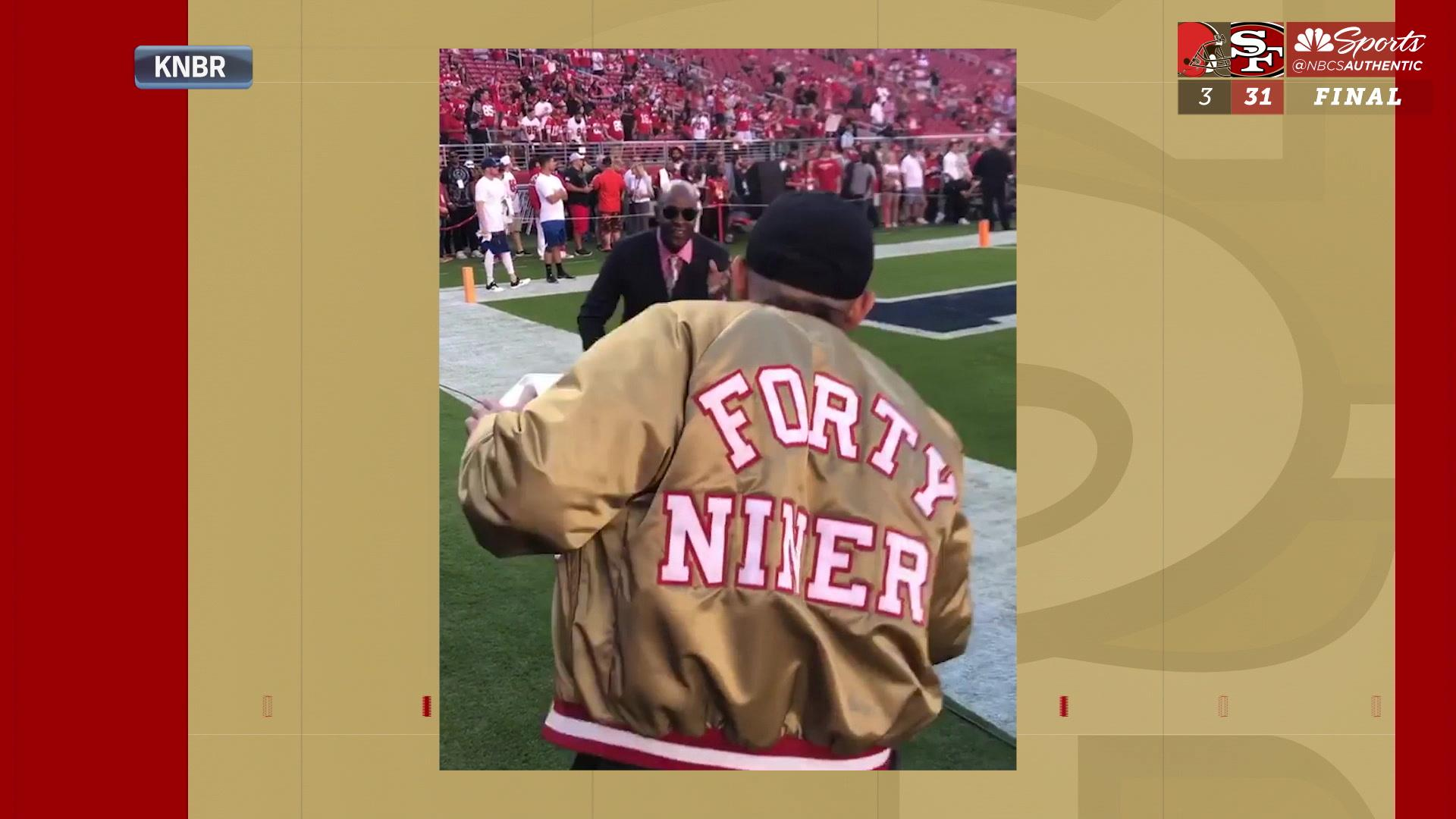 Rapper, 49ers fan P-Lo discusses dancing with Jerry Rice before