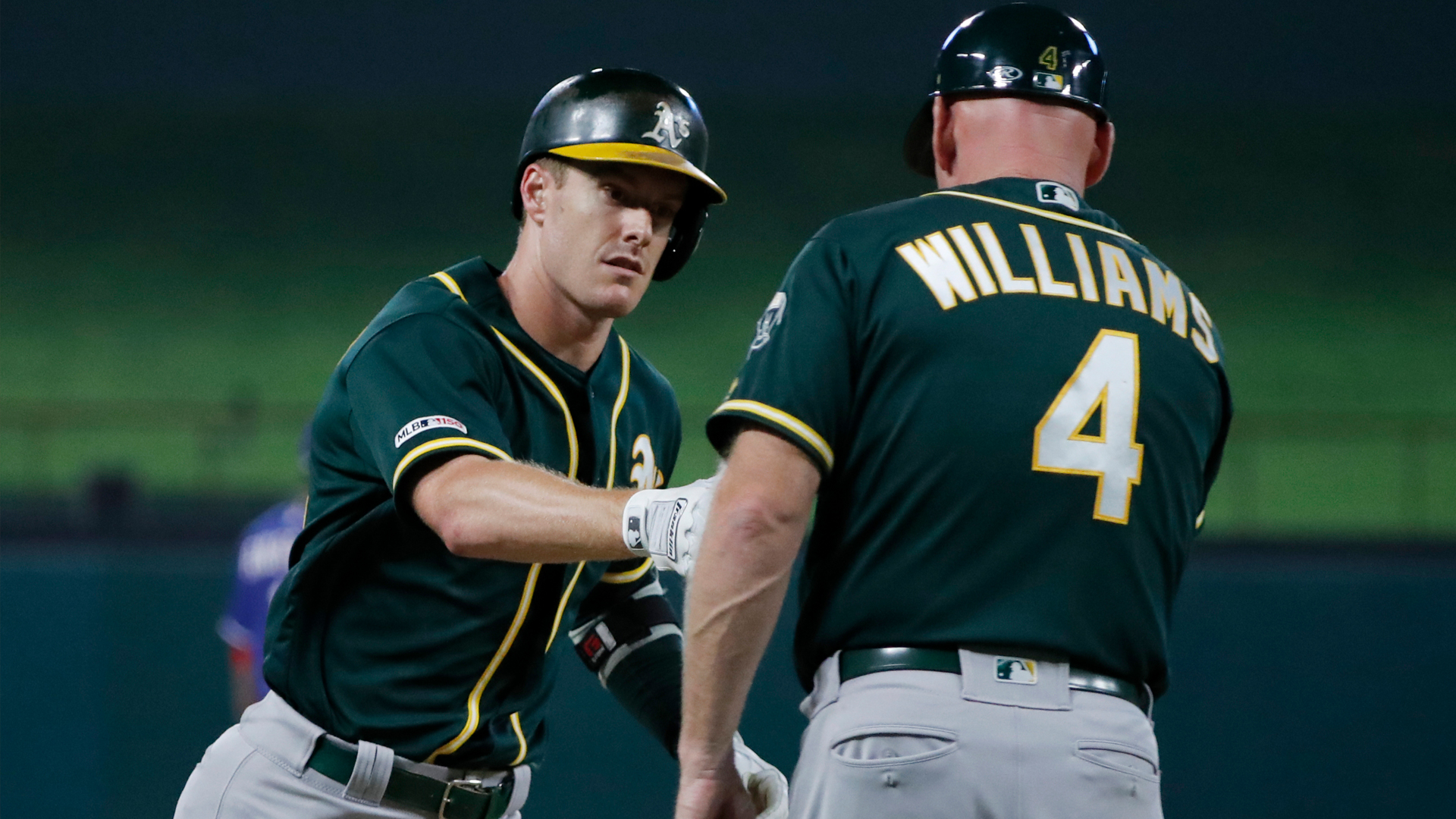 Drive of the Game: Mark Canha gives A's lead with two-run homer