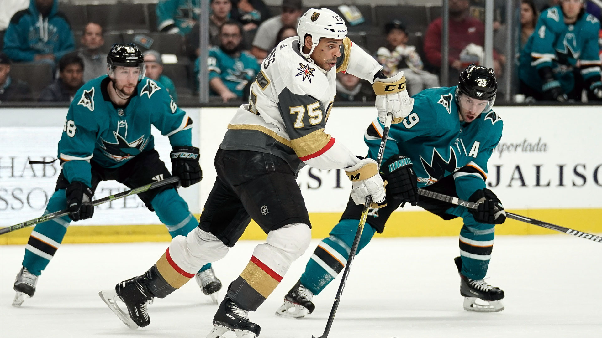 Logan Couture scores twice, but Sharks routed by Vegas at home