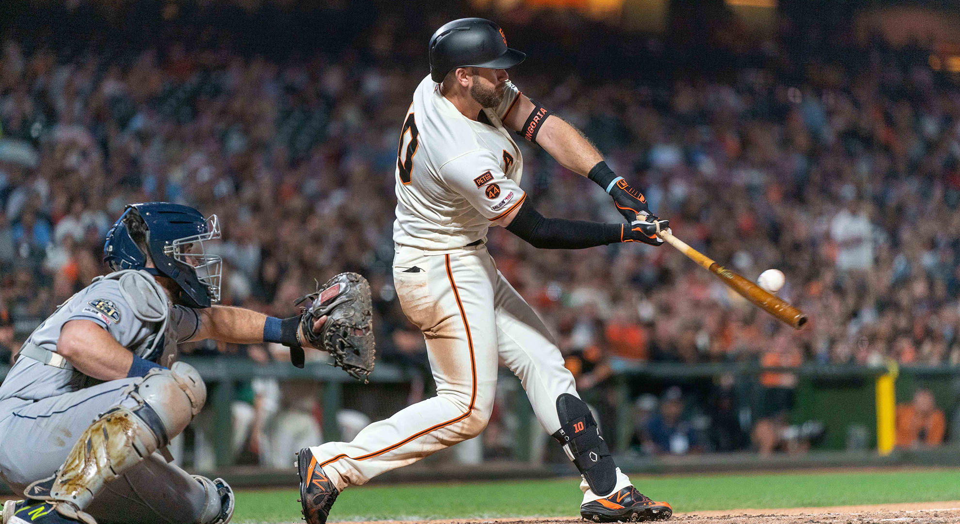 Drive of the Game: Evan Longoria puts Giants in front with two-run double