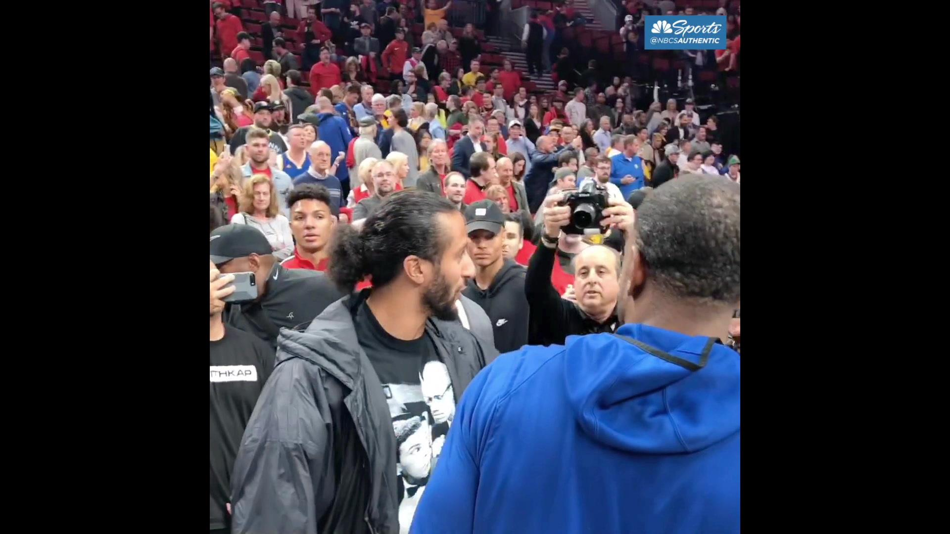 Colin Kaepernick meets with Andre Iguodala, DeMarcus Cousins after Game 4