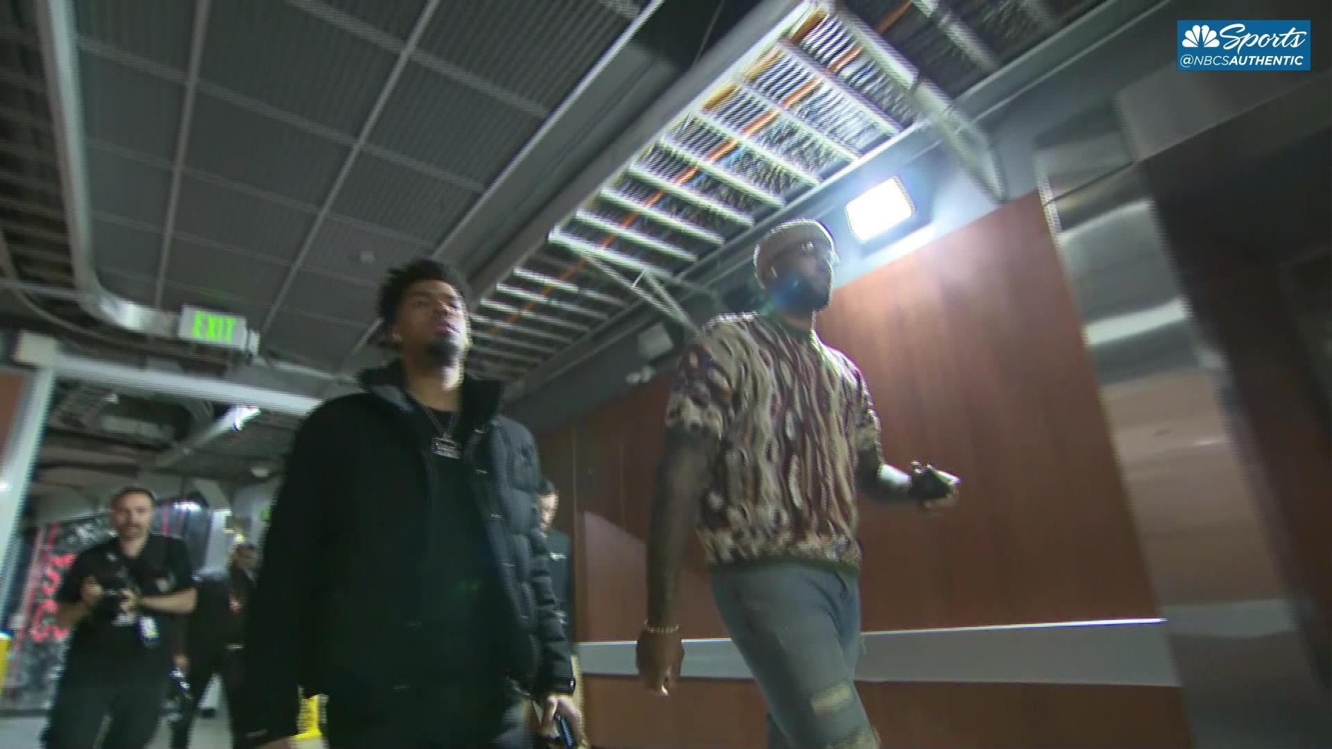 DeMarcus Cousins arrives at Staples Center for his Warriors debut