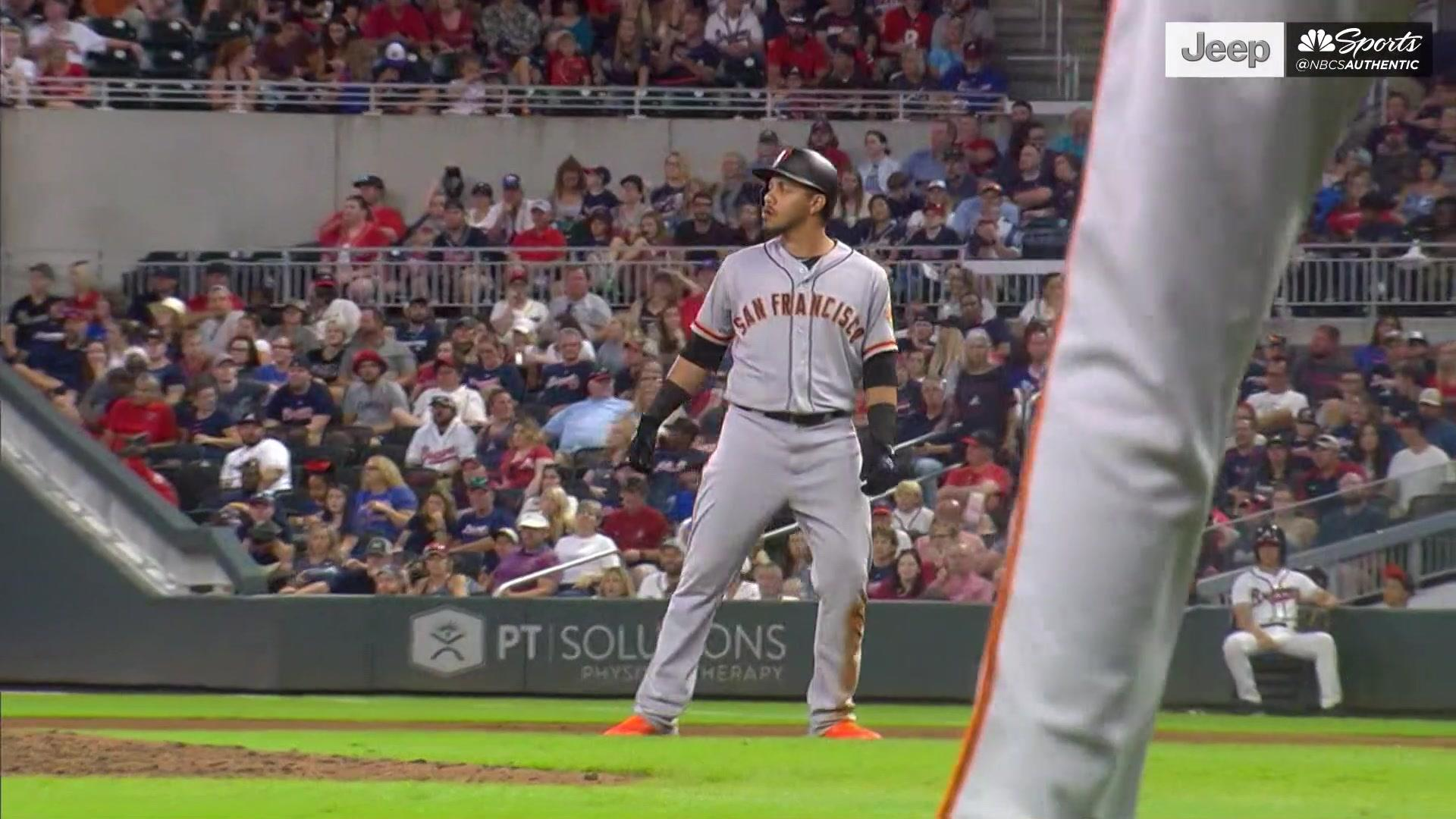 Drive of the Game: Cristhian Adames' RBI single scores lone Giants'
