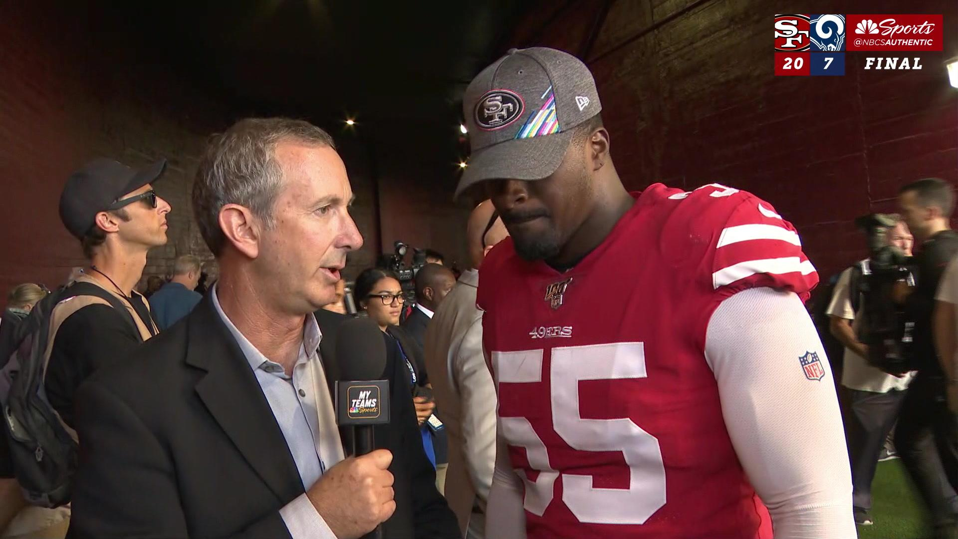 Dee Ford explains what 49ers' DC Robert Saleh does best after win vs.