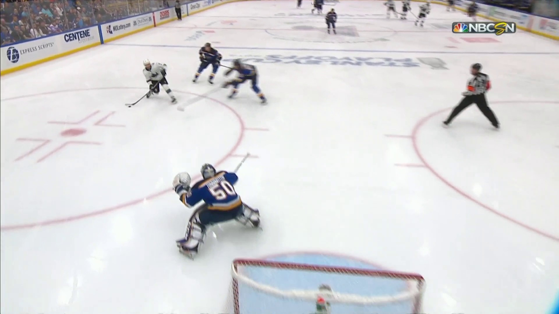 Dylan Gambrell scores against Blues in Game 6 for first career NHL goal