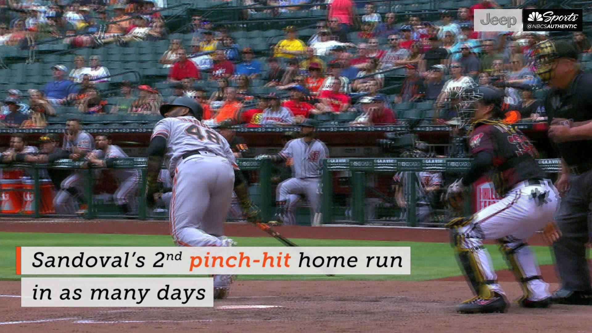 Drive of the Game: Panda's pinch-hit homer lifts Giants over D-backs