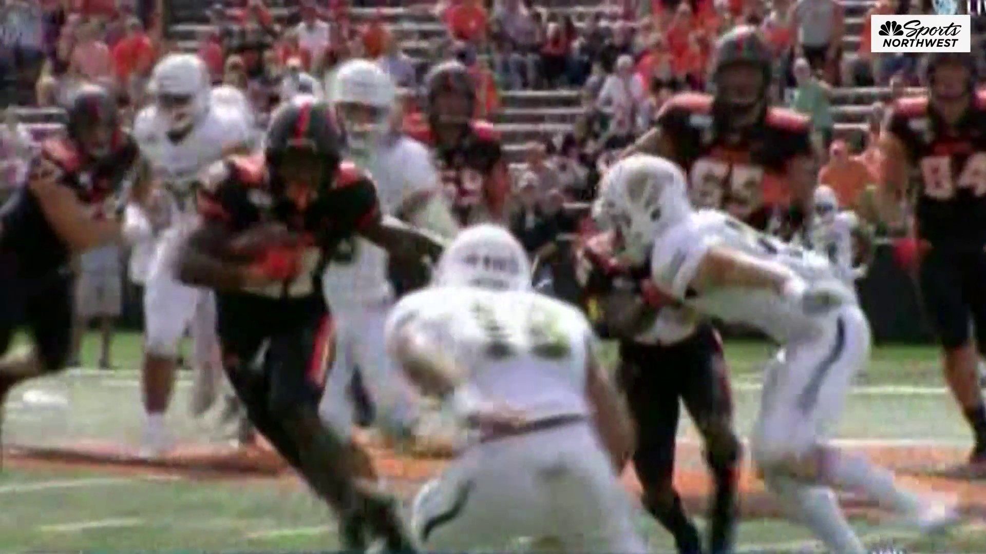 Running Back corp shows off for OSU