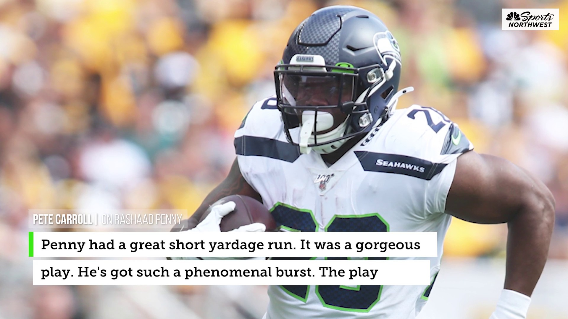 Rashaad Penny showcases why he could be Seattle's lead back