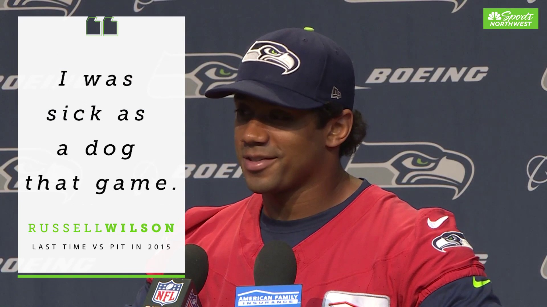 The last time Russell Wilson faced PIT he didn't feel well