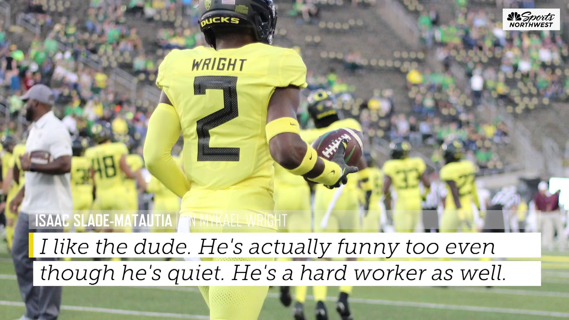 True Freshman Mykael Wright is stepping up for the Ducks