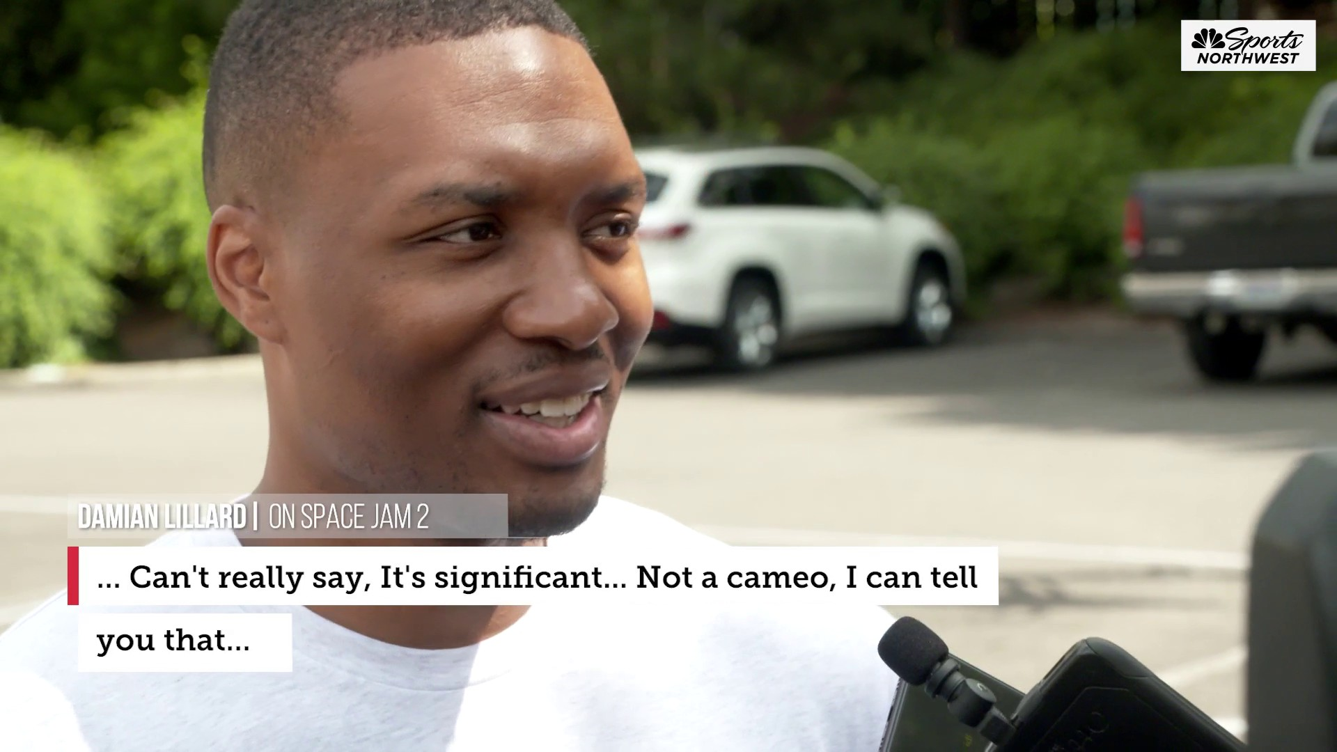 "Lillard on his Space Jam 2 role, ""it's not a cameo, I can tell you"