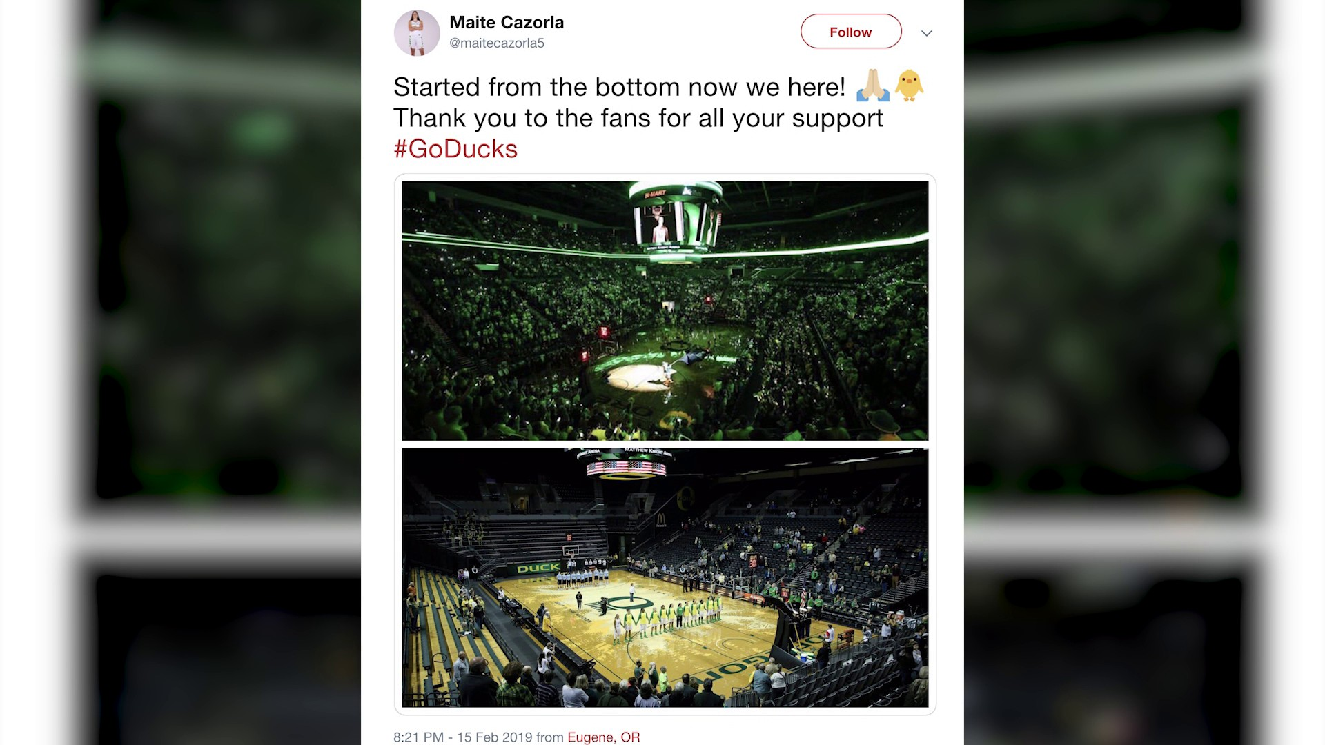 From 950 fans to 12,364, Oregon women's bball has GROWN