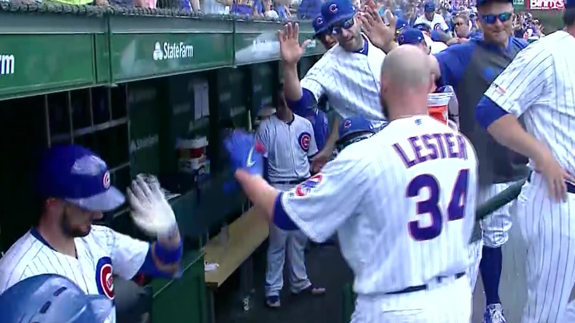 Jon Lester hits home run to add to Cubs onslaught of the Pirates