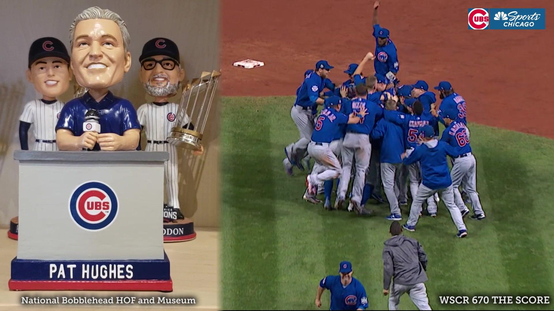 Pat Hughes World Series Bobblehead with audio unveiled